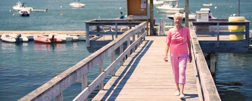Maine retirement oceanside dock