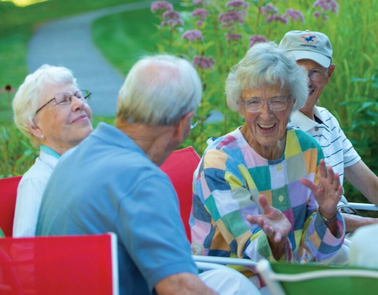 Residents enjoying the summer weather