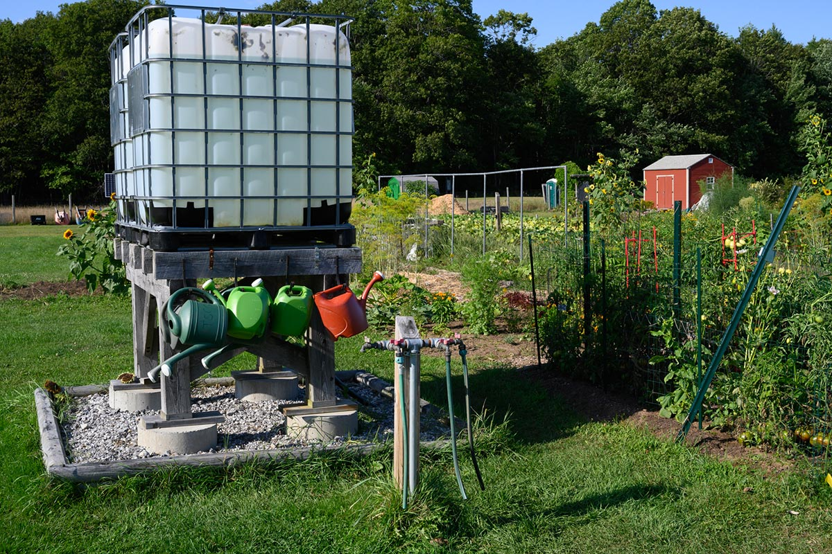 Community garden bordering Thornton Oaks Retirement Community