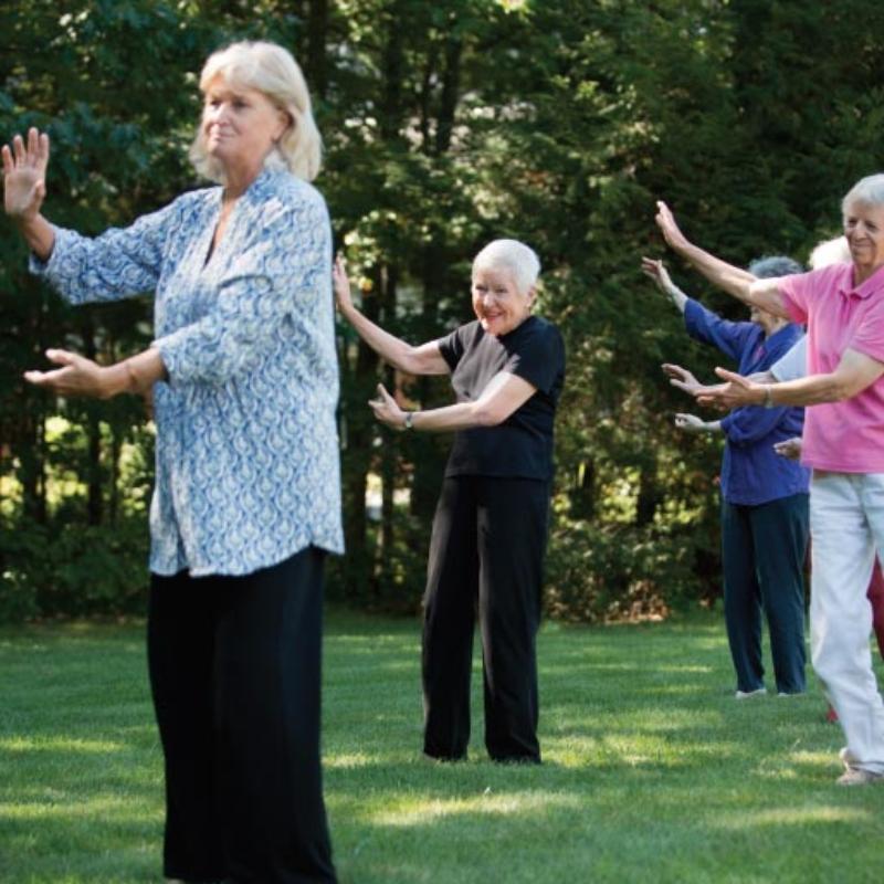 Group activities at Thornton Oaks Retirement Community