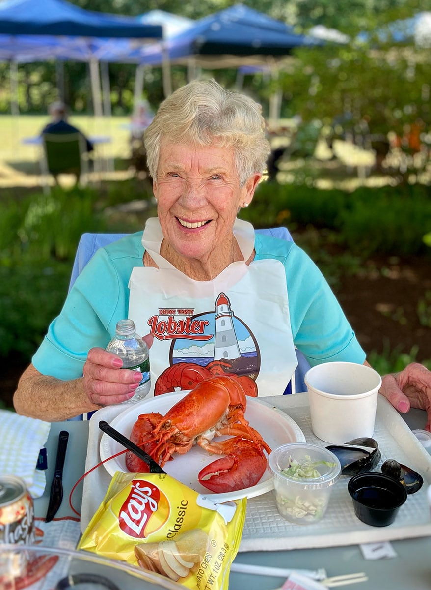 Lobster dinner at the best place to retire in Maine