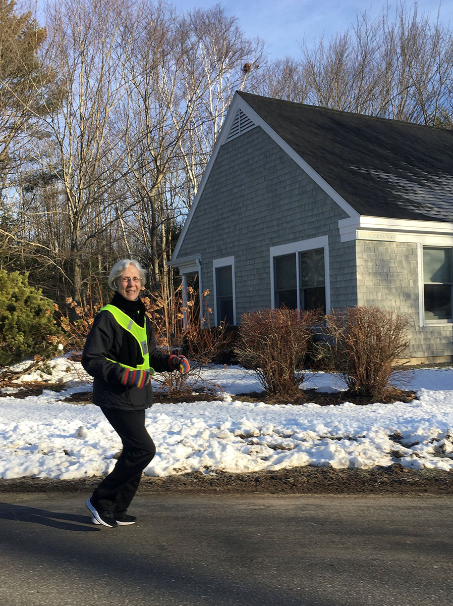 Active retirement in Brunswick, Maine - Jogging at Thornton Oaks