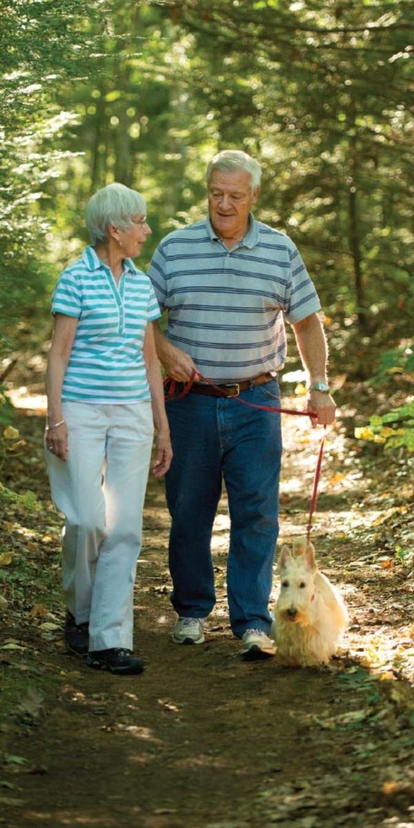 Walking trails at Thornton Oaks Retirement Community