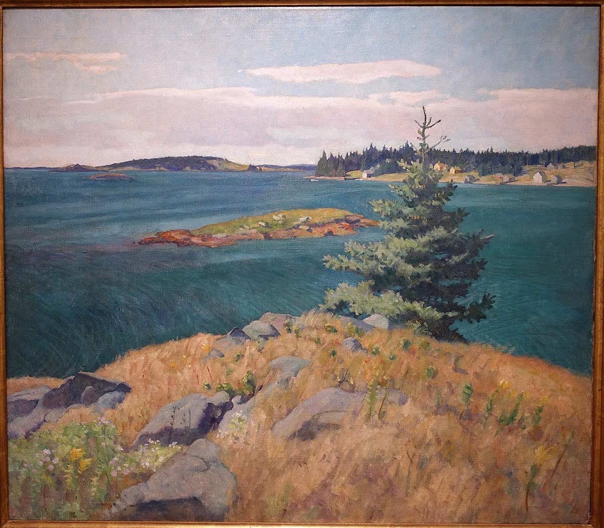 Georges Islands, Penobscot Bay, Maine - painting at Portland Museum of Art