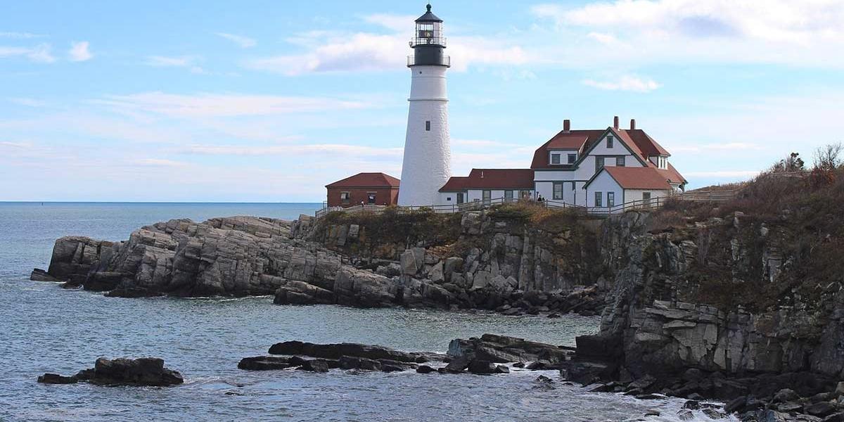 Historic Portland Head Light in Portland, Maine